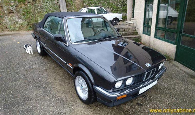 BMW 325i Cabrio E30 Diamantzwart Beige Leder 142000 Km