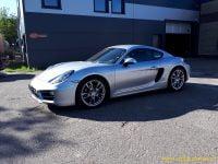 Porsche Cayman 12000 Km Zilvergrijs Met Zwart Leder