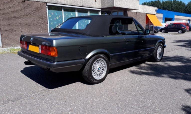 BMW 325i Cabrio E30 Delfingrijs Metallic 162000 Km Zwart Leder