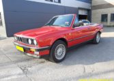 BMW 325i Cabrio E30 Zinnoberrood 182000 Km Grijs Stof Hahnentritt Interieur