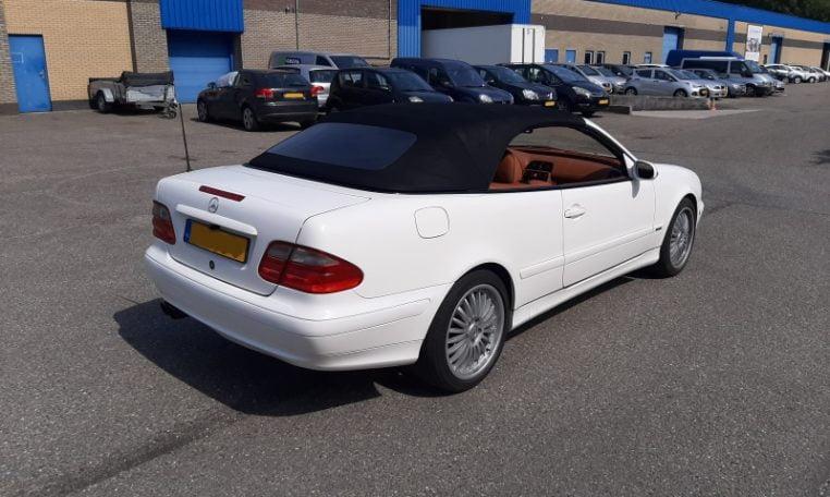 2 Mercedes 230 CLK Kompressor Wit Met Bruin Leder 245000 Km