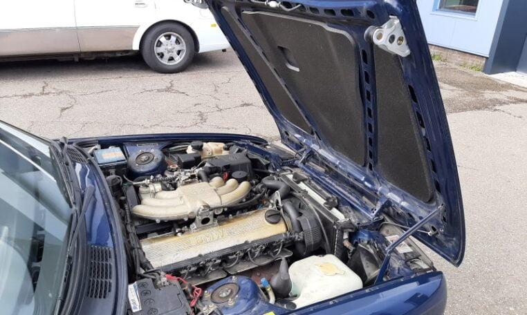 BMW 325i Cabrio Atlantisblauw Metallic Met Beige Leder 152000 Km