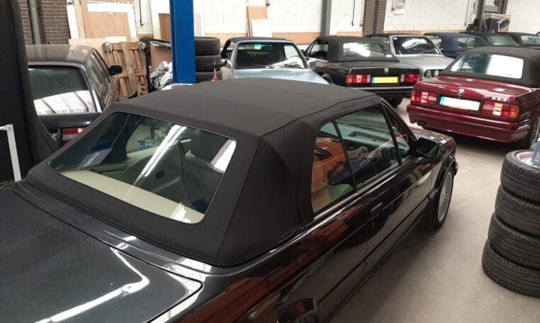 BMW 325i Cabrio E30 Diamantzwart Beige Leder 151000 Km 01 (