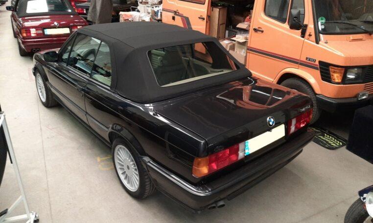 BMW 325i Cabrio E30 Diamantzwart Beige Leder 151000 Km 07 (