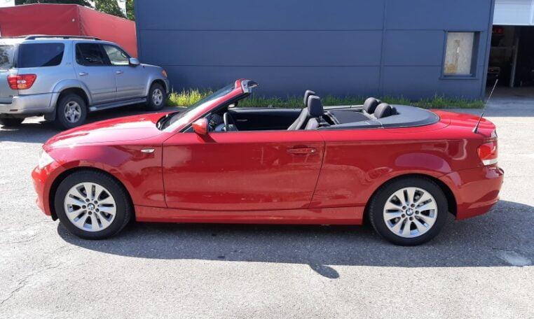 BMW 118i 2,0 Cabrio Rood Met Antraciet Stof Interieur 178000 Km