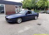 BMW 850i Mauritiusblauw Zwart Leder